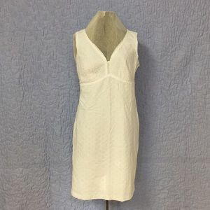 Liz Claiborne Sz 12 White Eyelet Sheath Dress